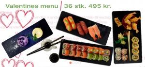 Valentins menu på Lucky Sushi