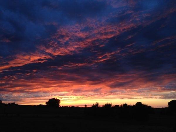 Solnedgang over Flakkebjerg