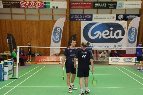 Flot badminton trods skader