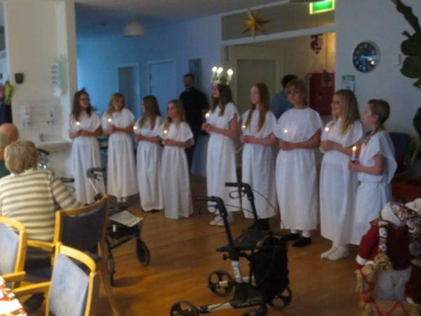 Luciaoptog på Skovvang