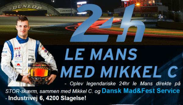24h legendarisk Le Mans med Mikkel C