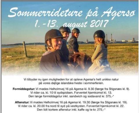 Sommerrideture på Agersø
