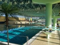 Foto: Slagelse svømmehal indefra.