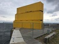 Afspærring vandsportscenter. Foto: Slagelse Kommune.