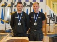 Med guldmedaljerne om halsen er Mads og Mathias klar til DM i Skills 2019. Foto: EUC.