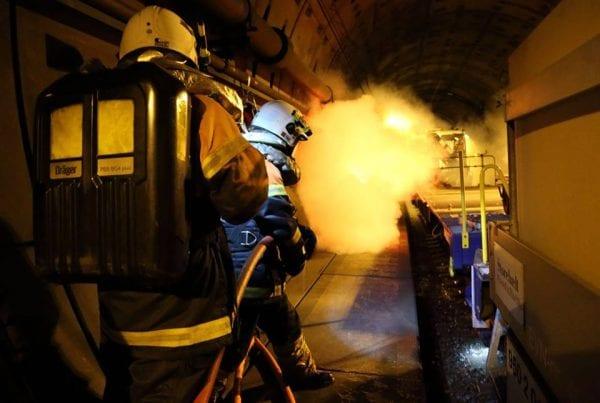 """""""Fuldskalaøvelse"""" i og omkring storebæltstunnelen lørdag nat"""