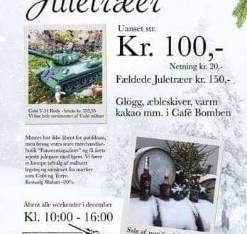 Juletræer og gløgg på PanzerMuseum East