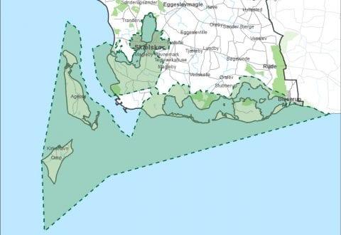 Kort Naturparkområde.