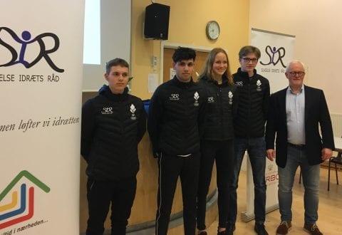 Fra venstre Magnus Rost, Ahmed El Ahmad, Josefine S. Andersen, Oscar Birch-Hald og Jørn C. Nielsen. Foto: Slagelse Idræts Råd.