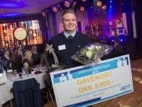 Sidste års vinder af GRANGIA Erhvervspris Mark Rentzmann Uhrbrand Kristensen fra Sørby Esport. Foto: Evan Hemmingsen