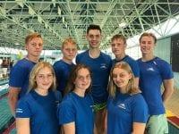 Slagelse Svømmeklub klarede det godt til DM Langbane i Helsingør. Foto: Slagelse Svømmeklub.