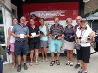 Fra venstre: Heidi, Jens, Karin, René, Connie, Ole, Anne, Torben og Hanne. Foto: Korsør Golf Klub