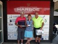 Fra venstre: René, Mette og Frank. Foto: Korsør Golf Klub.