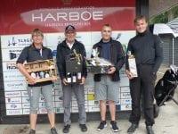 Fra venstre: Helle, Erik, Niklas og Dres. Foto: Korsør Golf Klub.