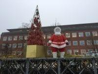 På Rådhuspladsen i Slagelse er der pyntet flot op til jul. Foto: Byportalerne, mco.