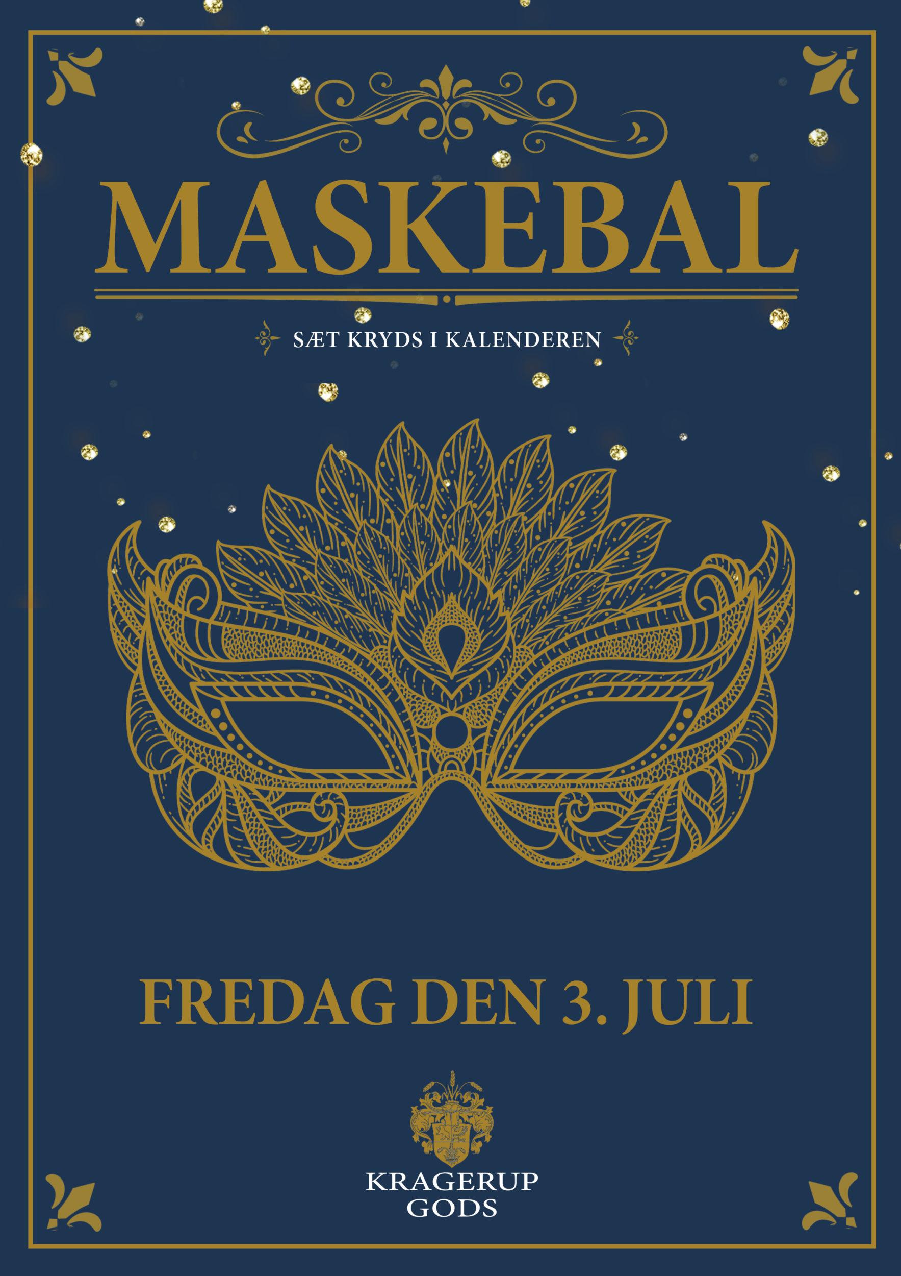Maskebal på Kragerup Gods – Sæt kryds i kalenderen